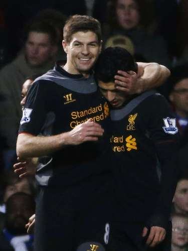 Suarez added a second within ten minutes of the first. REUTERS/Eddie Keogh