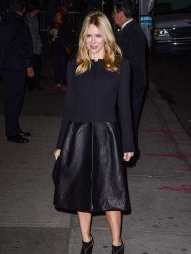 Naomi Watts uses leather to add a classy and sophisticated red carpet look. Which was your favorite leather look?