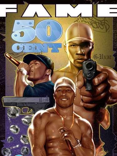 El rapero 50 Cent también tiene su cómic. Aquí, el cantante también aparece casi igual a como en realidad es.