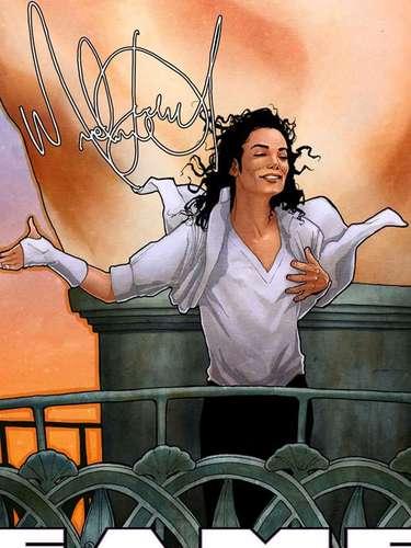 Sin olvidarse de las grandes estrellas, Blue Water Productions llevó al mundo del cómic a Michael Jackson, tomando la imagenque el'Rey del Pop' grabó para su video 'Black or White'.