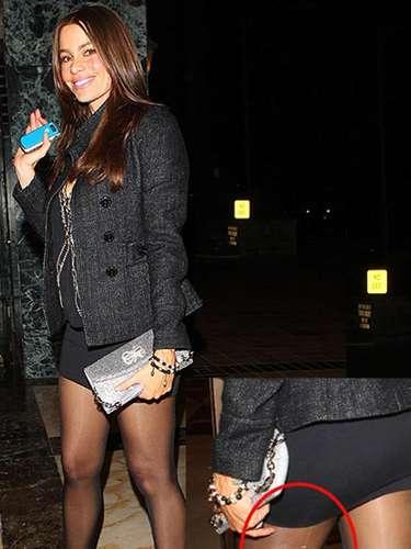 En marzo de 2011 la colombiana fue sorprendida cuando iba llegando a su casa en Los Ángeles con una media rota, sin embargo la actriz nunca dejó de sonreír.