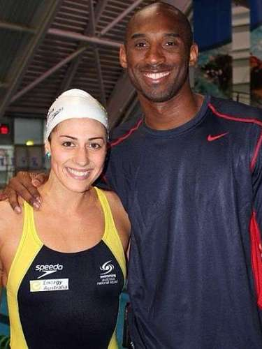 Kobe Bryant is a repeat violator of acting on his sexual urges and it caught up with him a bit during the Olympics when some Australian swimmers revealed that the Lakers star hit on them while his wife was out of sight. Allegedly, Kobe was particularly smitten with swimmer Stephanie Rice, who took a picture with the Black Mamba and put it on her Instagram.