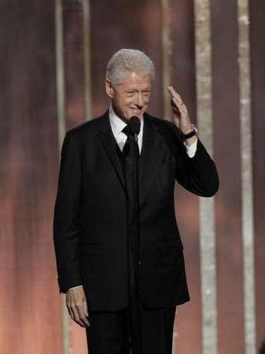 La gran sorpresa de los Golden Globes fue la aparición de Bill Clinton, el ex presidente de los Estados Unidos, para presentar una de las películas nominadas, \