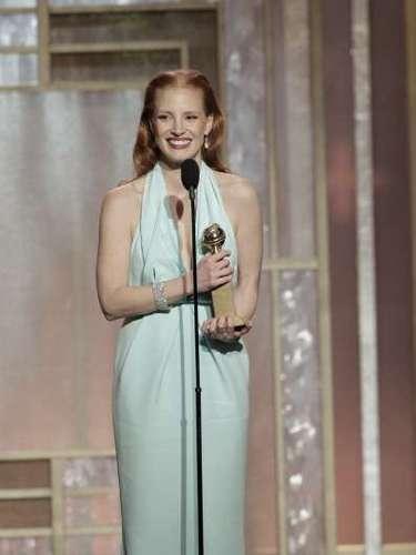 La Mejor Actriz en Película, Drama, fue Jessica Chastain por \