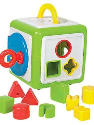 Puzzle Box Toddler Toy  Es difícil encontrar juguetes que mantienen la atención de un niño pequeño, pero este clasificador tiene a los jóvenes cautivados. Ordena las formas y letras en el cubo rompecabezas y ... ¿entonces qué? Abre la puerta, recupera las piezas, y experimenta un poco más. Este juguete educativo desarrolla la coordinación y habilidades para resolver problemas, mientras que ayuda a los niños aprender las formas y colores. Para mayores de 12 meses en adelante