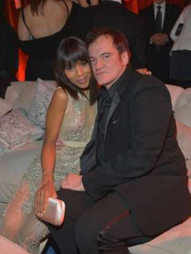 Time to cuddle!  Kerry Washington was caught getting cozy with Quentin Tarantino.