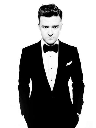 JANUARY 15 - Justin Timberlake puts on a tux to celebrate the Myspace relaunch. The singer poses on the landing page for the revamped social media site in an ad for his new single 'Suit & Tie.\