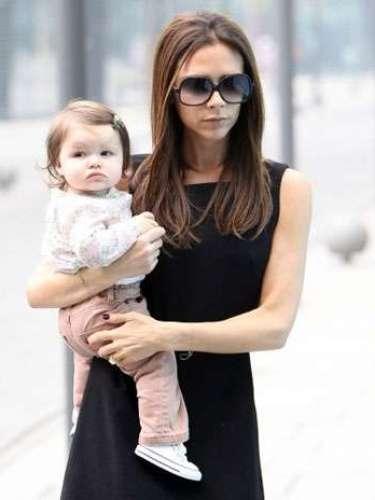 Victoria y David Beckham dieron la bienvenida a su hija Harper Seven Beckham en julio de 2011.