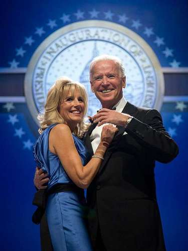 Never one to be outdone, Joe Biden also took his wife Jill on the dancefol. The charismatic politician received shows of endearment while he danced.