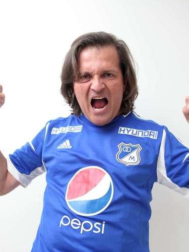 El actor Julio César Herrera asegura que haría todo por su equipo Millonarios.