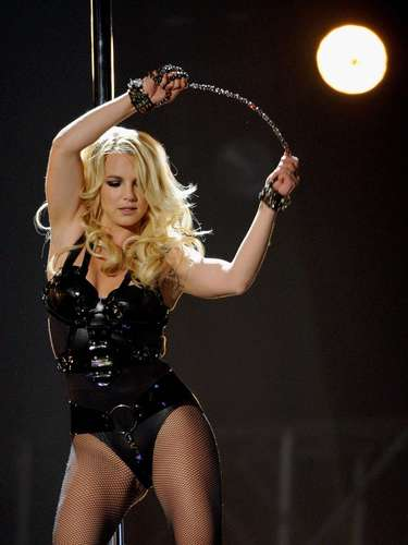 Britney Spears was less than enthusiastic during her comeback at the MTV Video Music Awards in 2007, as she lazily mimed the words to her hit, 'Gimme More.'