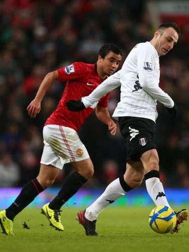 Dimitar Berbatov regresó a Old Trafford, ahora como jugador del Fulham.