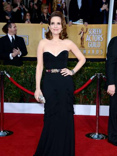BEST: Winner Tina Fey's style channeled vintage glam.