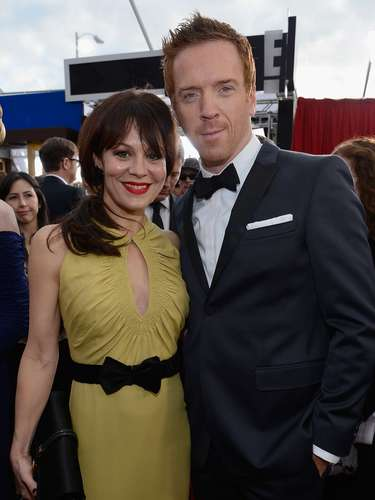 Homeland actor Damian Lewis and actress Helen McCrory.
