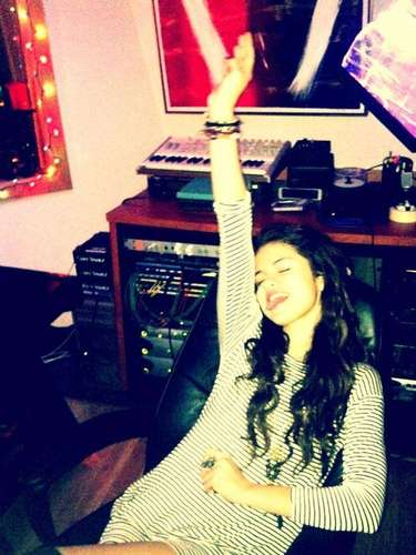 JANUARY 29 - Selena Gomez posted this photo on her Twitter in the studio with the caption \