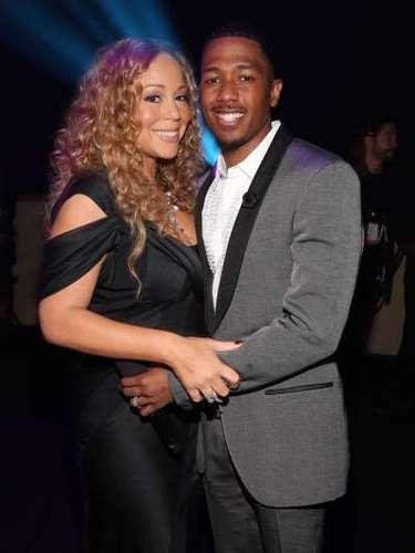 Mariah Carey continúa feliz al lado de Nick Cannon, 11 años más joven que la cantante.
