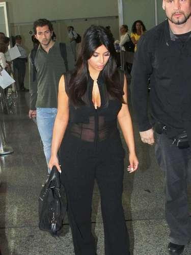 Kim Kardashian llegó al carnaval de Brasil