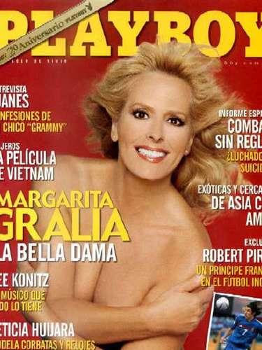 Algunas famosas presumen la escultural figura que conservan pasados los cuarenta años, incluso, han ido másallá mostrando sus curvas para Playboy, como lo hizo la actriz Margarita Gralia, quien posó para la revista del conejito en 2004.