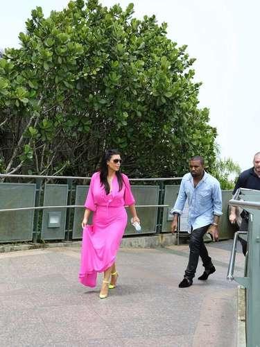 Kim Kardashian y Kanye West subieron la montaña de Corcovado para ver de primera mano el Cristo Redentor
