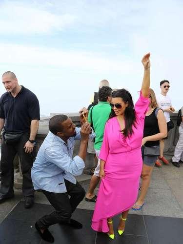 La pareja se robó toda la atención de una de las principales atracciones turísticas de Río.
