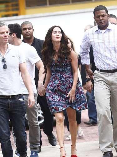 Megan Fox siempre estuvo acompañada por su esposo, el actor Brian Austin Green
