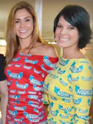 En actividades previas a la Batalla de Flores, las nuevas Chicas Águila estuvieron presentes en otros eventos. Aquí Mónica y Claudia.