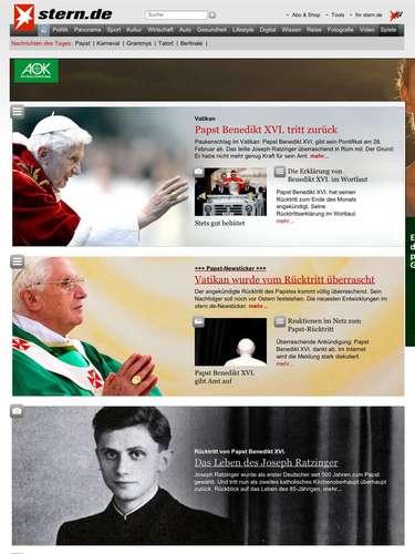 Reacciones de la prensa mundial a la renuncia del Papa