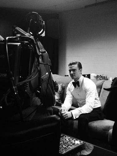 Doing interviews.