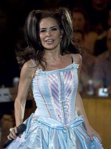 Con este look la estrella se prensentó en concierto en Querétaro, México, el último show de \