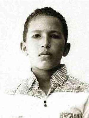 El presidente de Venezuela, Hugo Chávez, en otra foto tomada en la época de sus años de escuela en su ciudad natal de Barinas.