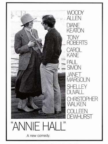 En el año de 1977 la comedia romántia, Annie Hall, del director y protagonista del filmWoody Allen, logró la preciada distinción.