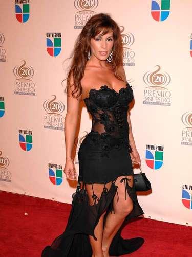 Linda figura la de Paty Muñoz. Pero en 2008 optó por un vestido que gritaba sus atributos.