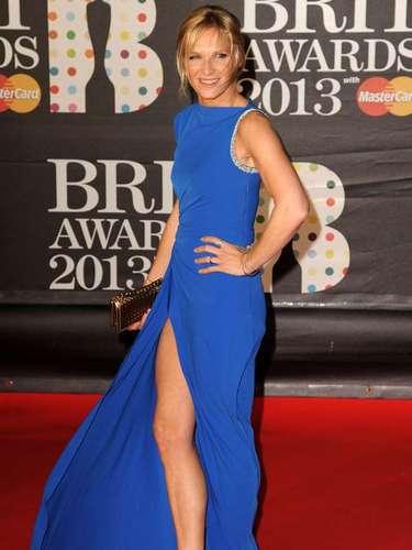 La presentadora y disc jockey inglesa Jo Whiley sonrió a los admiradores y a la lente que la persiguió.