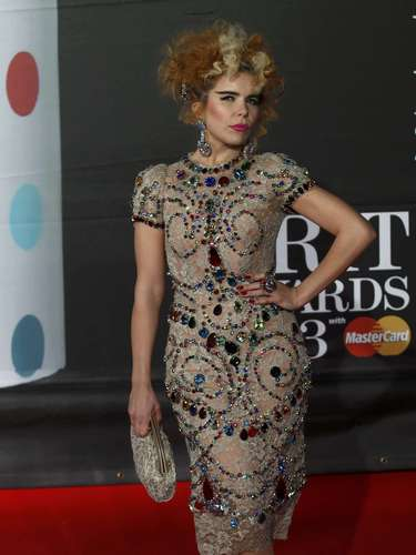 Singer Paloma Faith arrives for the BRIT Awards, celebrating British pop music, at the O2 Arena in London February 20, 2013. REUTERS/Luke Macgregor (BRITAIN  - Tags: ENTERTAINMENT)