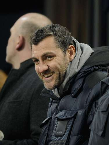 Former Italian national team player Christian Vieri, who played briefly for AC MIlan, was another celebrity who attended the game.