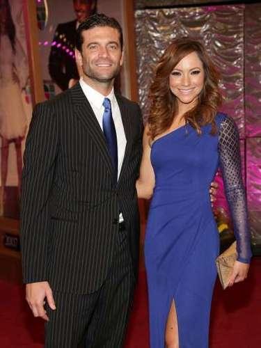 Aaron Butler y Sasha muy elegantes para la ocasión.