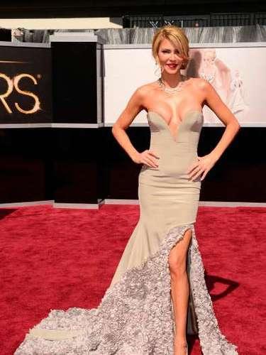 Brandy Glanville, El escotazo más grande de la noche de los Oscar