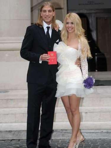 Wanda Nara y Maxi López se casaron por el civil el23 de mayo de 2008.