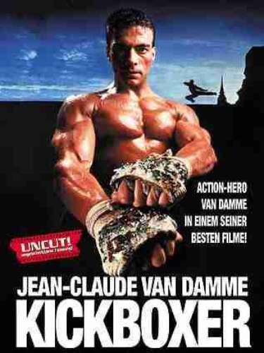 El conocido actor belga Jean-Claude Van Damme, antes de dedicarse a la actuación, practicó karate y kickboxing, llegando a ser dos veces campeón mundial de la Asociación Europea de Karate Profesional (Full Contact en aquella época) en la categoría de peso medio. Entre sus éxitos en el cine están Kickboxer (en la foto), Soldado Universal, y la aclamada Timecop.
