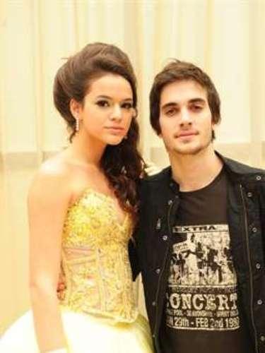 En 2011, interpretó el personaje Belezinha, en la novela de Globo Aquele Beijo. En la foto, ella aparece al lado de Agenor (Fiuk).