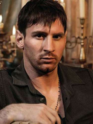"Messi has developed a certain ""look"" when posing for the camera. Can you say, ""Blue Steel!"""