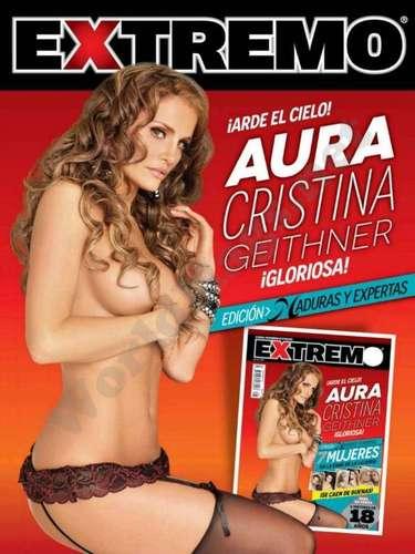 Aura Christina Geithner expuso su exótica belleza, mezcla de rasgos colombianos, mexicanos y de algún lugar europeo, en esta revista. Sabemos que se vendió muy bien y que el público le apaludió el tremendo cuerpazo que tiene.