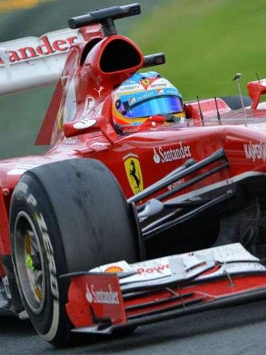 Fernando Alonso terminó en segundo lugar y fue motivo de felicidad para el asturiano.