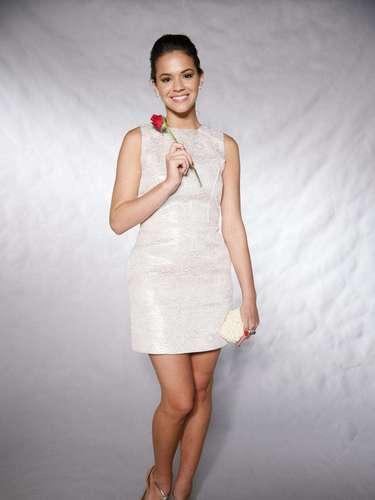 La joven en grabación de un programa especial de fin de año del cantante Roberto Carlos, en Brasil, en 2012.