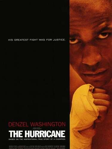 """The Hurricane (1999): La película narra la vida del boxeador Rubin """"Huracán"""" Carter, concentrándose sobre todo en el periodo entre 1966 y 1985. Describe su lucha contra la acusación de triple asesinato y cómo afronta casi veinte años en prisión. Fue dirigida por Norman Jewison y protagonizada por Denzel Washington."""