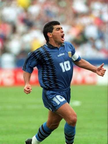 Diego Armando Maradona: Diego sumo 34 goles en sus 91 partidos con la albiceleste entre 1977 y 1994.