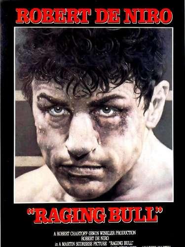 Raging Bull (1980): Está inspirada en la historia del boxeador Jake La Motta, interpretado por Robert De Niro, cuya rabia sadomasoquista, celos sexuales y brutal apetito exceden los límites del cuadrilátero y destruyen su relación con su esposa y su familia.