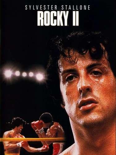 Rocky II (1979): Esta es la única secuela incluida en este listado, y sigue con la historia de Rocky Balboa luego de perder con Apollo Creed. En esta película vuelve a aparecer la famosa escena de Rocky entrenando en las escaleras del Museo de Arte de Filadelfia, mientras suena la canción Gonna Fly Now; pero esta vez no está solo, puesto que cientos de personas, la mayoría niños, corren con él hasta la cima de la escalinata.
