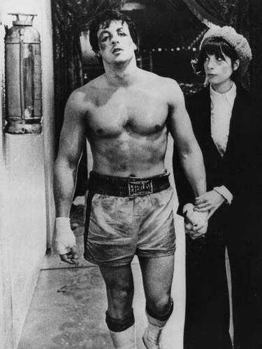 Rocky (1976): Rodada en 28 días y con un presupuesto bastante modesto, 1,1 millones de dólares, se convirtió rápidamente en un enorme éxito; recaudando más de $115 millones de dólares solo en Estados Unidos, ganando tres Premios Oscar (incluyendo mejor película) y lanzando a Stallone, quien fue nominado como mejor actor, de manera inmediata al estrellato. La fama de la película fue tal, que Stallone ingresó al Salón de la Fama del Boxeo en diciembre de 2010. Además, contó con la participación especial del campeón mundial Joe Frazier.