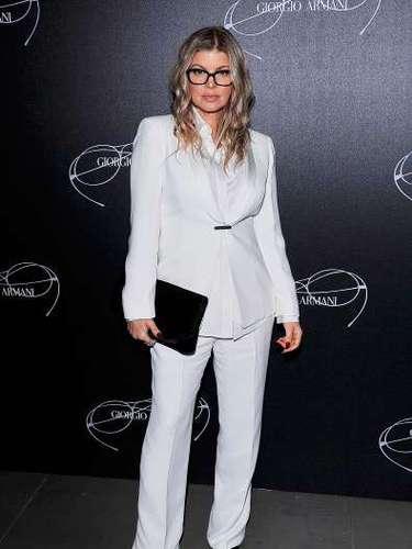 Fergie asiste a un evento el 23 de febrero de 2013 de Giorgio Armani - Luxottica en Milán, Italia.
